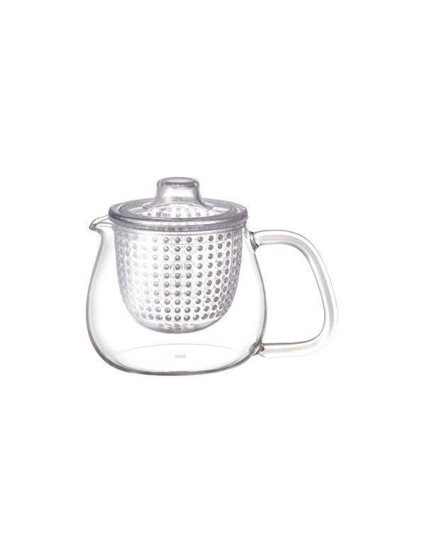Kinto Unitea glass teapot – plastic stainer