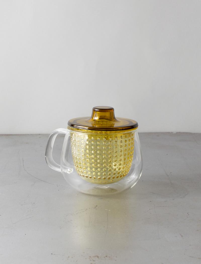 Kinto Unimug üveg teapohár szűrővel
