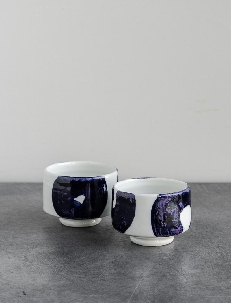 Cobalt blue tea cup by Tünde Ruzicska