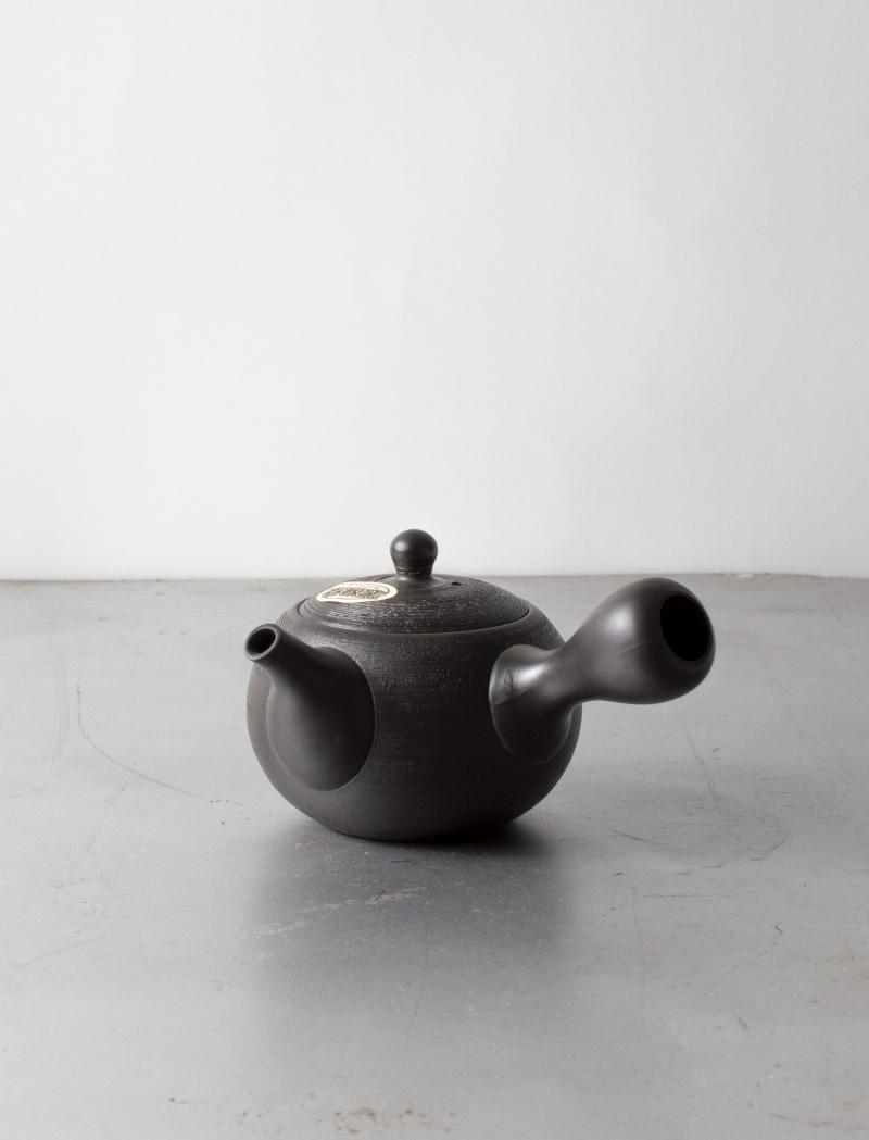 Black Tokoname Kyusu Teapot